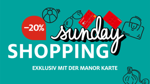 Manor – Sunday Shopping mit 20% Rabatt